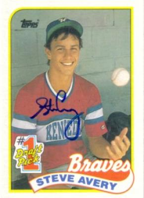 Steve Avery autographed Atlanta Braves 1989 Topps Rookie Card