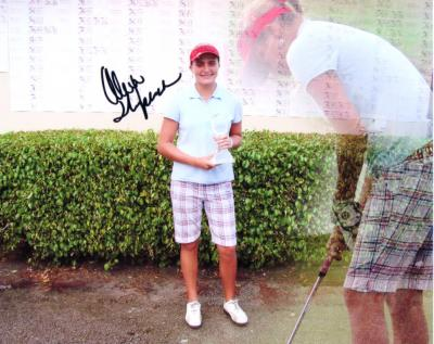 Alexis (Lexi) Thompson autographed 8x10 photo