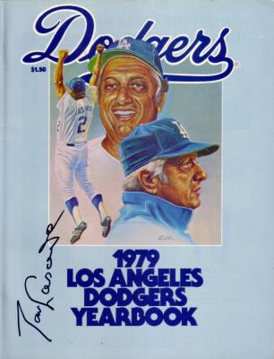 Tom Lasorda autographed Los Angeles Dodgers 1979 Yearbook
