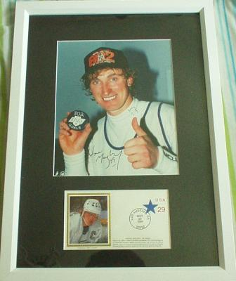 Wayne Gretzky autographed Goal 802 Los Angeles Kings 8x10 photo framed with cachet