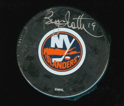 Bryan Trottier autographed New York Islanders puck