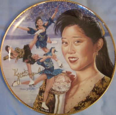 Kristi Yamaguchi (skating) autographed Gartlan commemorative plate ltd edit 950