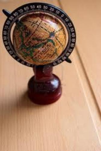 Decorative; Small decorative antique globe;