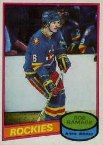 1980-81 o-pee-chee rob ramage rookie hockey card