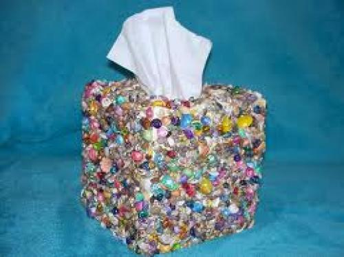 "Crafts; handmade ""Sea Shell"" Tissue box"