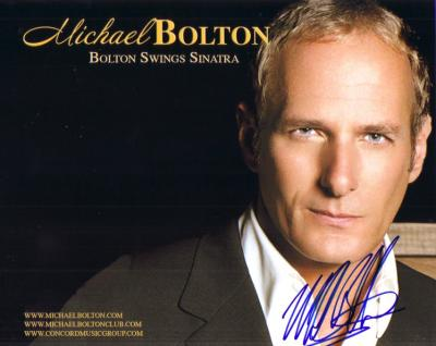 Michael Bolton autographed Bolton Swings Sinatra 8x10 photo