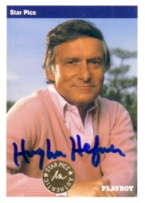 Hugh Hefner certified autograph Playboy 1992 Star Pics card RARE