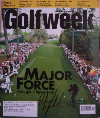 Phil Mickelson autographed 2006 Masters Golf Week magazine