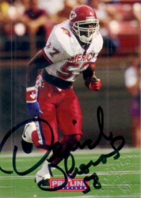 Derrick Thomas certified autograph Kansas City Chiefs Pro Bowl 1992 Pro Line card