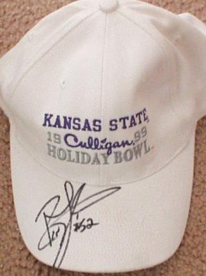 Ben Leber autographed 1999 Kansas State Holiday Bowl cap