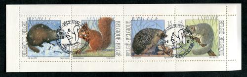 Belgium - Booklet with animals (cancel squirel)