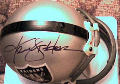 Ken Stabler autographed Oakland Raiders mini helmet