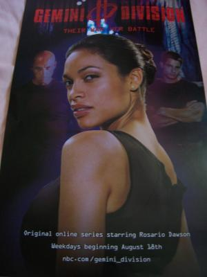 Gemini Division 11x17 mini promo poster (Rosario Dawson)