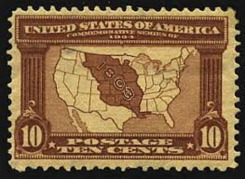 Stamps;U.S stamps was issued, showing a map of the United States