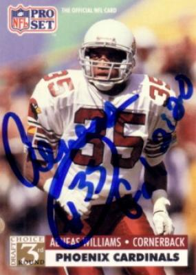 Aeneas Williams autographed Cardinals 1991 Pro Set Rookie Card
