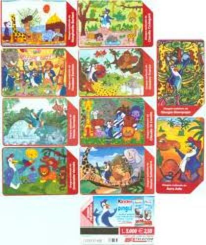 Phone Cards Kinder Pingui Safari (Italy)