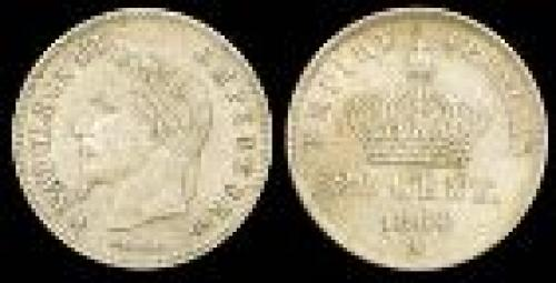 20 centimes; Year: 1864-1866; (km 805)