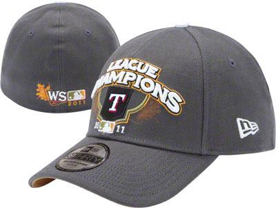 Texas Rangers 2011 American League Champions official locker room cap or hat