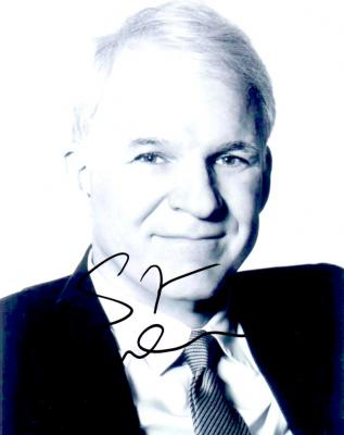 Steve Martin autographed 8x10 black & white photo