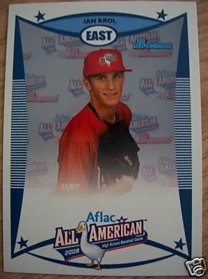 Ian Krol 2008 AFLAC Bowman Rookie Card