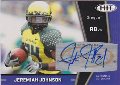Jeremiah Johnson Oregon certified autograph 2009 SAGE card