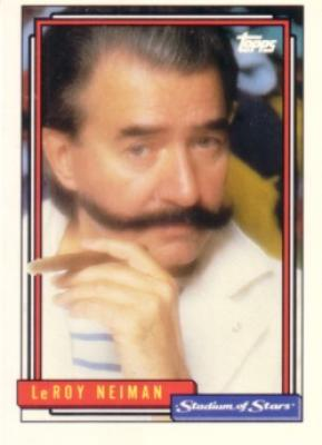 LeRoy Neiman 1992 Topps Stadium of Stars card