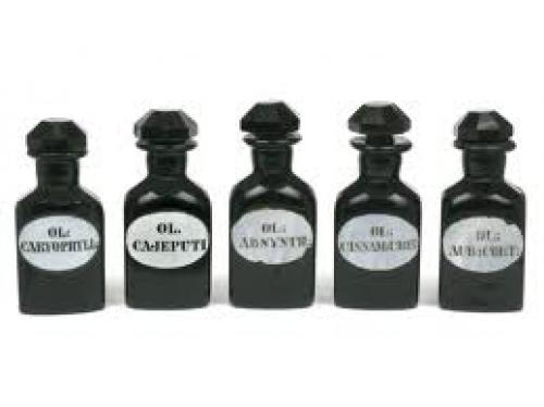 Bottles and Cans; Antique Apothecary Cobalt Blue Bottles