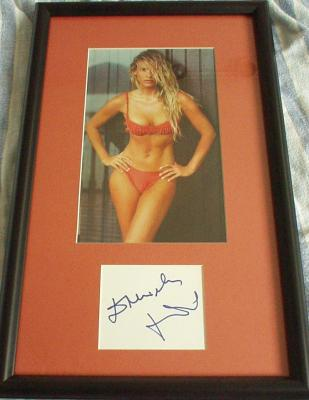Daniela Pestova autograph matted & framed with Sports Illustrated swimsuit photo