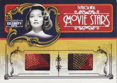 Patricia Neal worn clothing swatch Donruss Americana card #66/100
