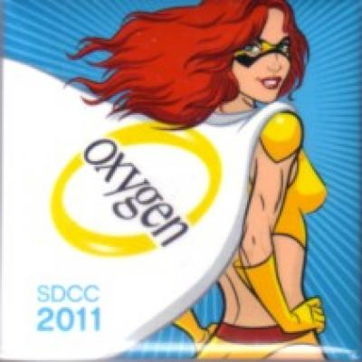 Oxygen Network Bad Girls Club 2011 Comic-Con promo button or pin