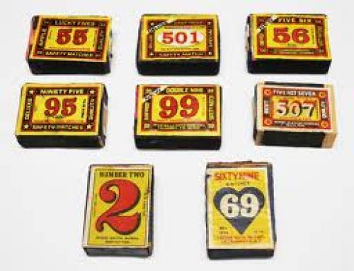 Vintage Matchboxes; Numerals collection