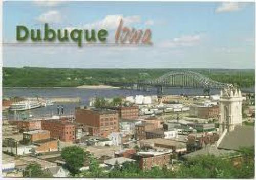 Postcards;  a view of the Mississippi USA