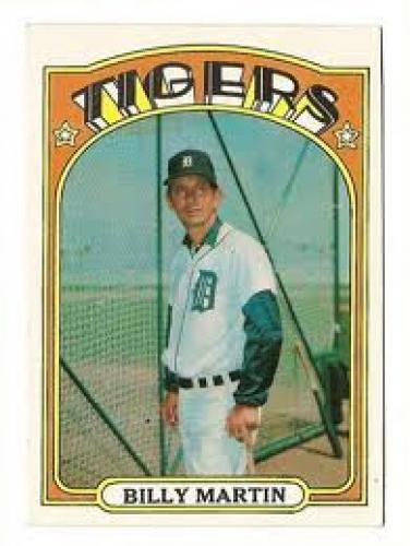 Baseball Card; Billy Martin; Tigers