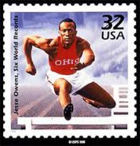 Stamps; USA 1998 Jesse Owens US postage stamp