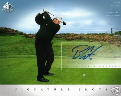 Ben Curtis certified autograph 2004 SP Signature Golf 8x10 photo card