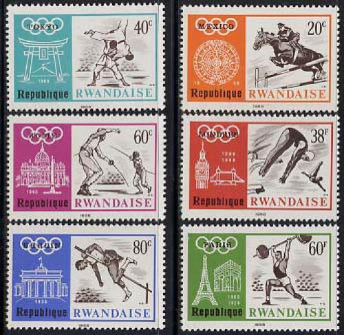 Olympic Games Mexico 6v; Year: 1968