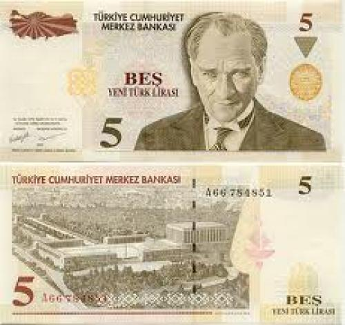 Banknotes; Turkey 5 Lira; Year: 2005