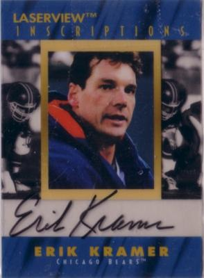 Erik Kramer certified autograph Chicago Bears 1996 Pinnacle Inscriptions card
