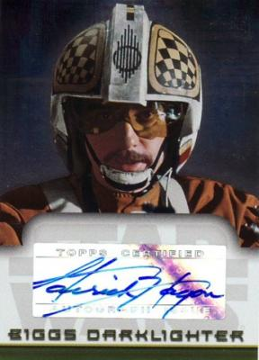 Garrick Hagon Star Wars Topps certified autograph card