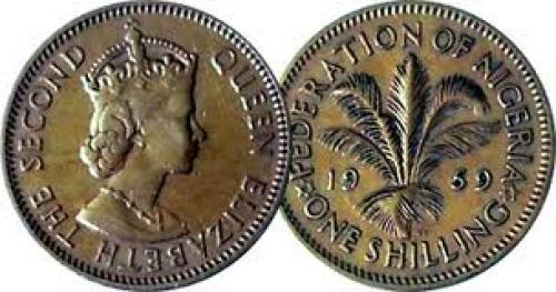 Nigeria 3 and 6 Pence, and 1 and 2 Shillings 1959 to 1962