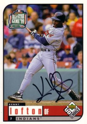 Kenny Lofton autographed Cleveland Indians 1999 Upper Deck All-Star Game jumbo card