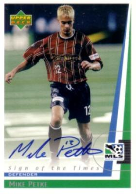 Mike Petke certified autograph 1999 MLS MetroStars card