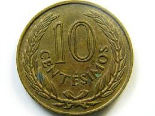 Coins;  1960 URUGUAY COIN 10 CENT 