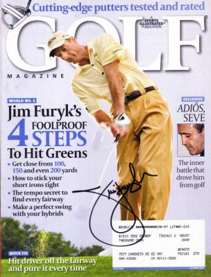 Jim Furyk autographed 2007 Golf Magazine cover