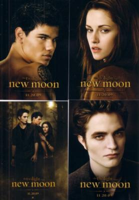 Twilight New Moon movie 4 promo card set (Bella Edward & Jacob) MINT