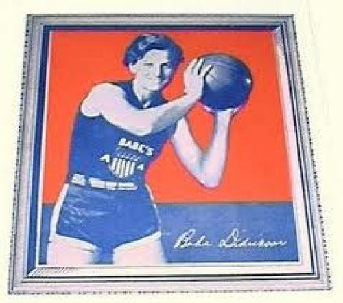 Basketball Card; 1935 Wheaties basketball card of Babe Dietrickson