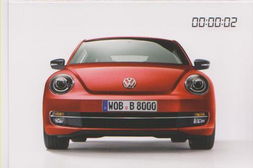 VW Volkswagen Beetle 2012 postcard