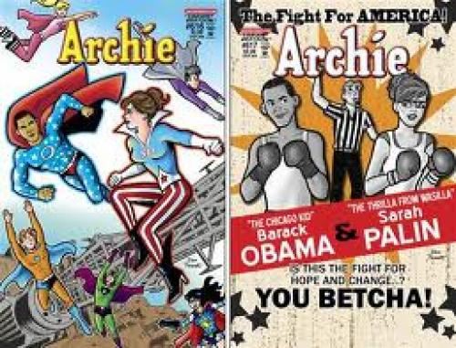 Comics; Upcoming covers of Archie Comics portray President Obama and Sarah Palin