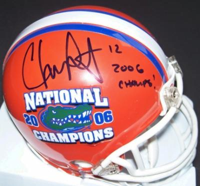 Chris Leak autographed Florida 2006 National Champions mini helmet