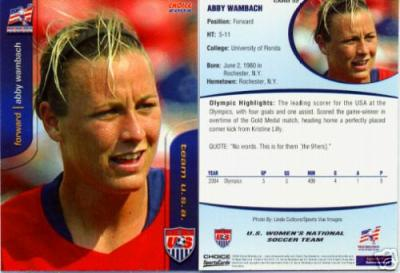 Abby Wambach 2004 U.S. Women&#039;s National Team Rookie Card